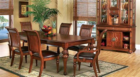 cindy crawford dining room sets cindy crawford home key west tobacco 5 pc rectangle dining