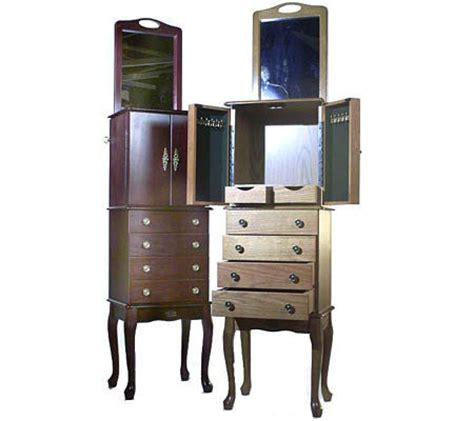 thomas pacconi jewelry armoire thomas pacconi classic deluxe jewelry armoire with mirror