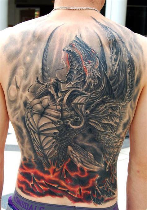 dragon back tattoos for men back evil for
