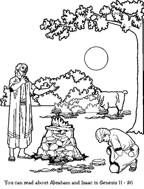 Coloring Page Isaac And Abraham by Abraham And Isaac Coloring Page Coloring Home