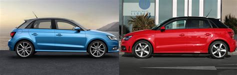 audi a3 vs a1 audi a1 facelift what s new uk side by side comparison