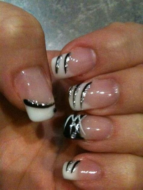 easy nail art black and silver 15 ideas to make a new manicure pretty designs