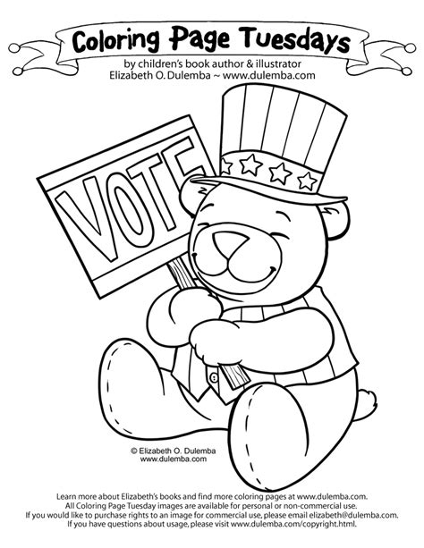 election day coloring pages preschool dulemba coloring page tuesday get out the vote