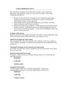 scholarship resume template scholarship resume templates