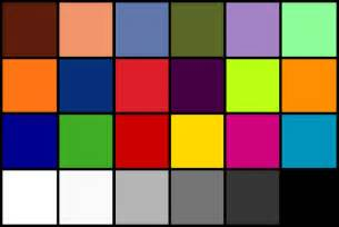 the color test resolution test patterns