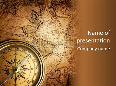 Old Compass Powerpoint Template Id 0000016704 Upresentation Com Compass Powerpoint Template