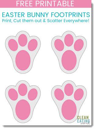 printable easter bunny footprints clean eating