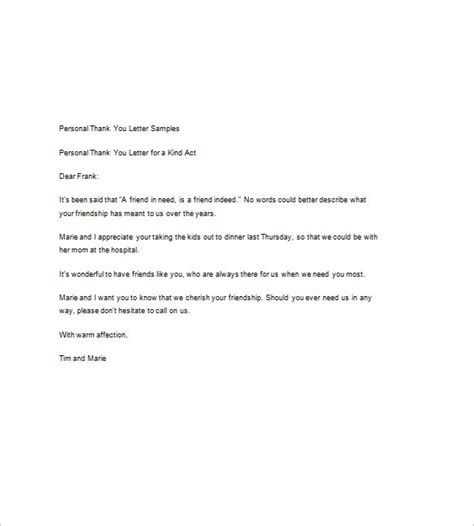 free thank you letter template sle thank you note 9 free word excel pdf format