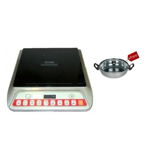 induction cooker kadai skyline vi 9051 2000w induction cooker with free kadai by skyline induction