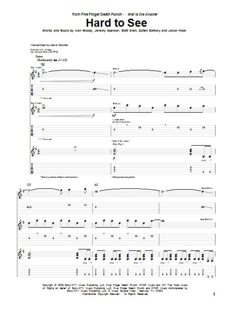 five finger death punch violin sheet music hard to see sheet music direct