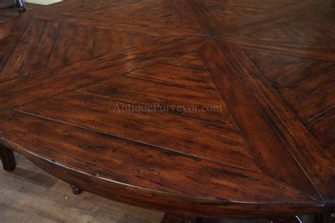 distressed wood round dining table 62 78 jupe table for sale round to round country dining table