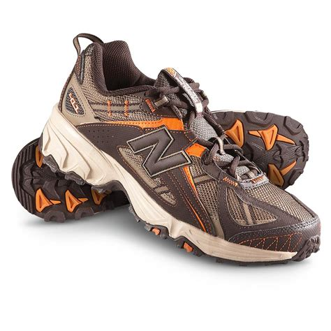 mens new balance trail running shoes s new balance 174 411 trail running shoes brown orange