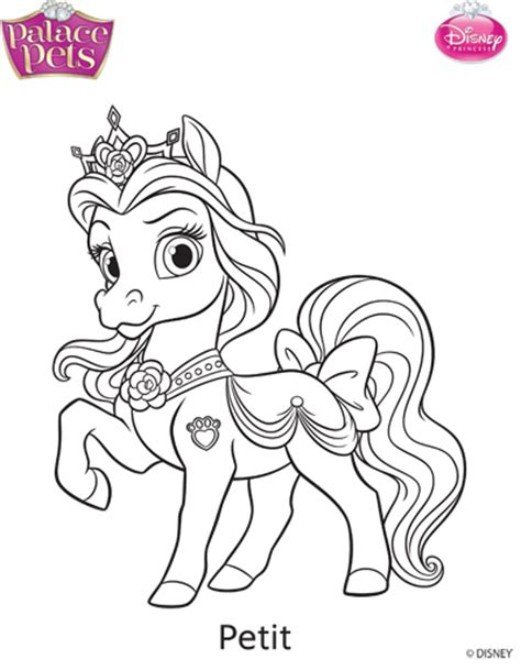 coloring pages princess pets princess palace pets petit coloring page by skgaleana on