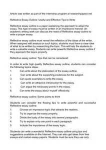 Writing A Reflection Essay by Reflective Essay Template