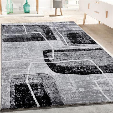 teppiche retro designer teppich konturenschnitt retro muster in grau
