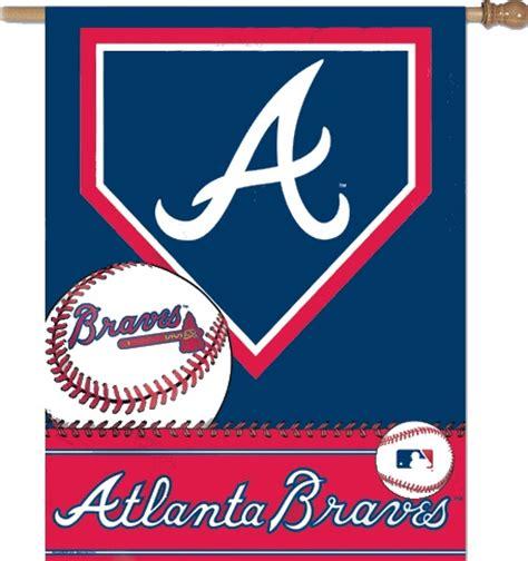 braves colors atlanta braves logos team color mlb vertical banner flag