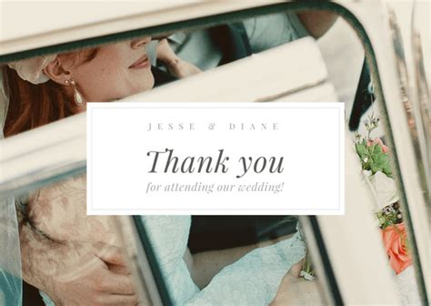 make your own wedding thank you cards design your own wedding thank you cards canva