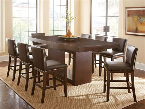 Antonio Extendable Rectangular Counter Height Dining Table Counter Height Dining Table Sets