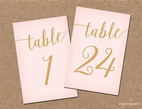 4x6 printable scroll grey and pink table numbers by instant download printable table numbers 1 30 blush