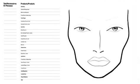 mac face chart template gallery