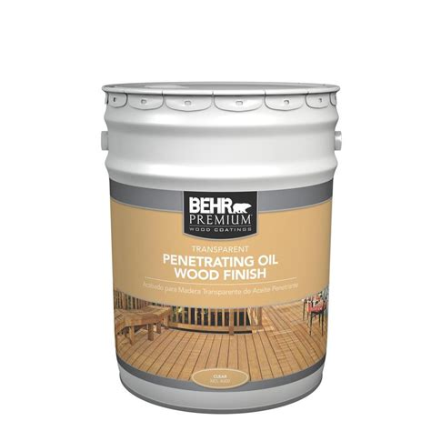 clear exterior paint behr 5 gal 4000 transparent penetrating wood finish