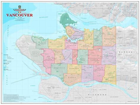 map of vancouver map of vancouver neighborhoods vancouver