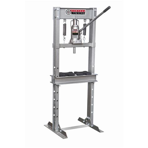 1 Ton Hydraulic Floor Press by 12 Ton Shop Press