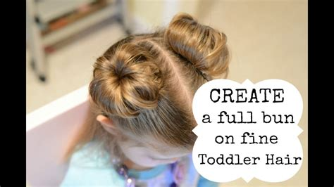Hairstyles For Toddlers With Hair by Hairstyles For Toddler Create A Bun With Hair