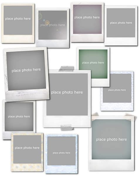 template photoshop photo frame 11 polaroid frames psd templates images polaroid frame