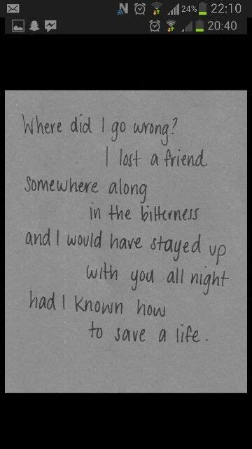 """How To Save A Life"" by The Fray. 