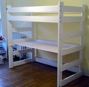 wood loft bed with desk and dresser on with hd resolution