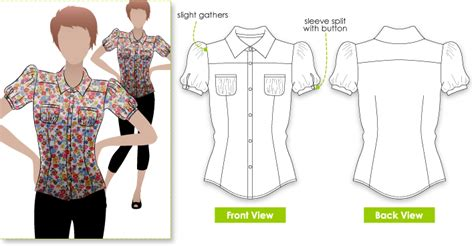 pattern shirt images stylearc felicity blouse