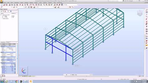 steel frame design exle 3d steel portal frame full tutorial in autodesk robot 2017