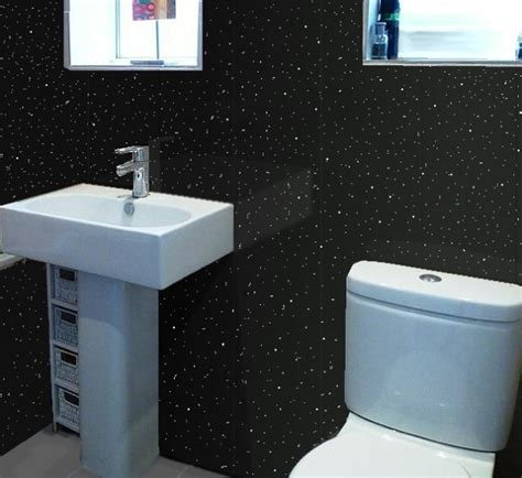 black glitter bathroom decorative cladding will transform your bathroom