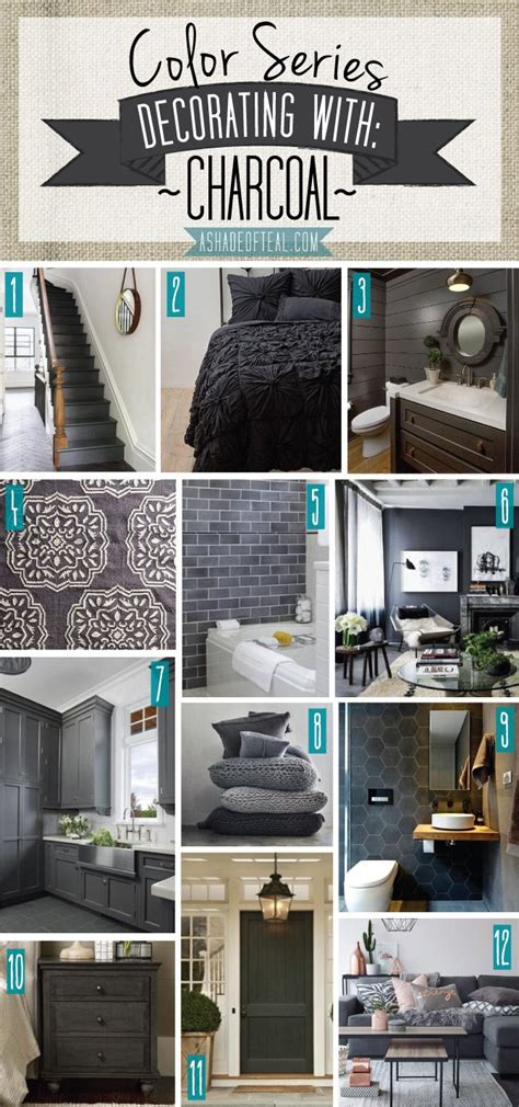 color series decorating  charcoal home decor home