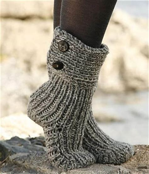 knitted boot socks free pattern 10 diy free patterns for crochet slipper boots 101 crochet