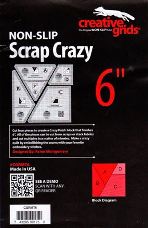 creative grids non slip scrap crazy 6 template ruler set