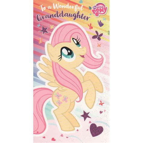 My Pony Birthday Cards My Little Pony Granddaughter Birthday Card Mp018
