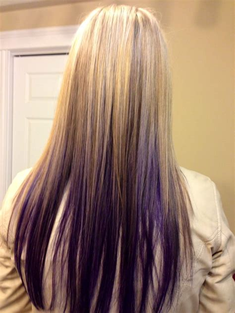 puple with blonde highlights blond highlights with purple under hair pinterest