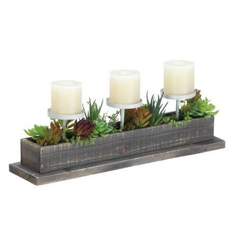 Candle Display by Reclaimed Wood Succulent Candle Display Wholesale At
