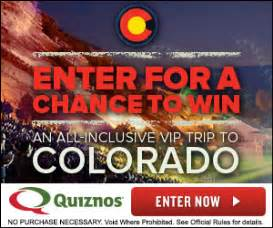 Sweepstakes Colorado - new quiznos sweepstakes win a trip to colorado the unextreme