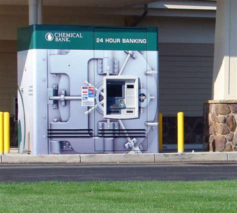 bank guerilla marketing atm machine that resembles bank vault the big ad