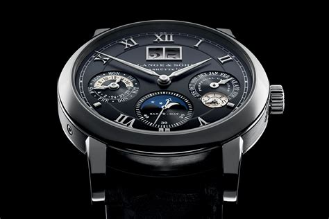 a and a lange s 246 hne langematik perpetual in white gold and black live photos