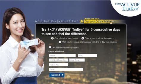 One Day Acuvue Trueye 2305 by Acuvue Free 1 Day Acuvue Trueye 5 Day Trial Singapore