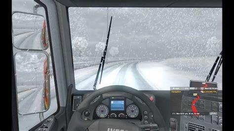 euro truck simulator 2 snow mods simulation game modes euro truck simulator 2 winter mod v1 0 youtube