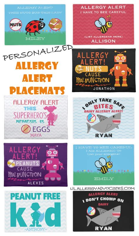 Contact Mat Alerts You Of Visitors by Allergy Alert Plates And Place Mats Lil Allergy Advocates
