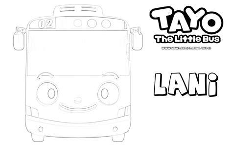 coloring page tayo mewarnai gambar tayo the little bus mewarnai gambar