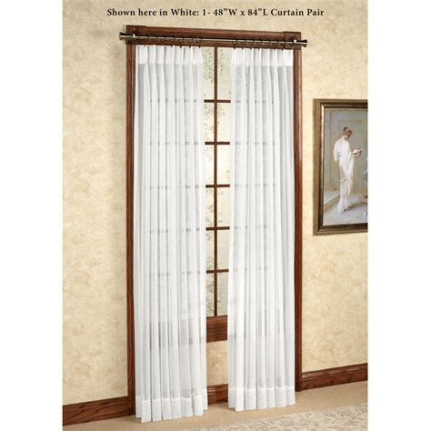 96 white curtain panels 96 long white sheer curtains soozone