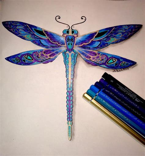coloring book for johanna basford dragonfly