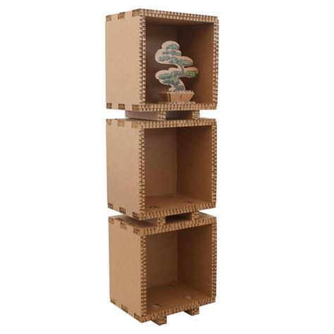 librerie in cartone cubo in cartone per libreria assemblabile foot avana a 5 lati